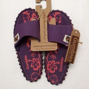 Gumbies Sandles purple & pink Sz 7 Men - 8 women's